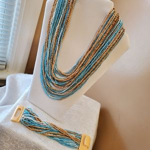 Fashion jewelry necklace and earring set